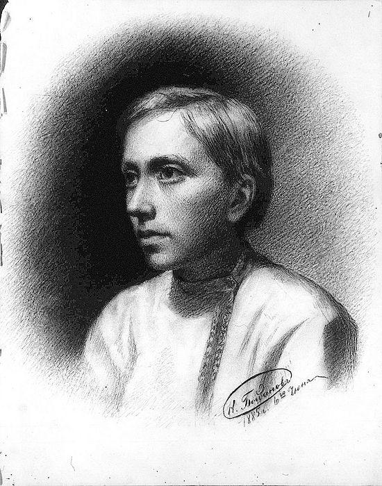Н.П. Богданов-Бельский. Автопортрет