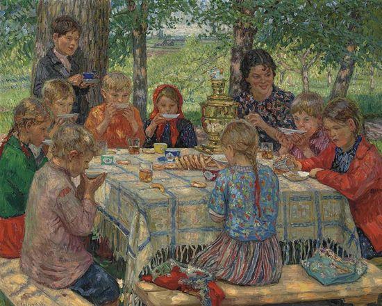 Именины учительницы. 1910