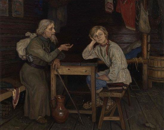 Н.П. Богданов-Бельский. Будущий инок. 1889