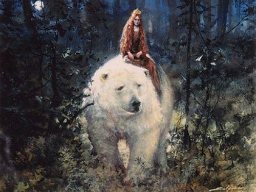 Иллюстрация к сказке «Белый медведь король Валемон»