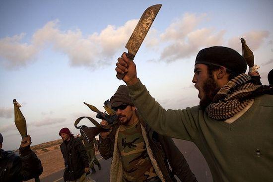 Ливийские «повстанцы». 2011 г. Фото: Heidi Levine/Sipa Press