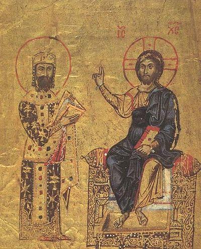 Христос и Алексей I Комнин (1081-1118)