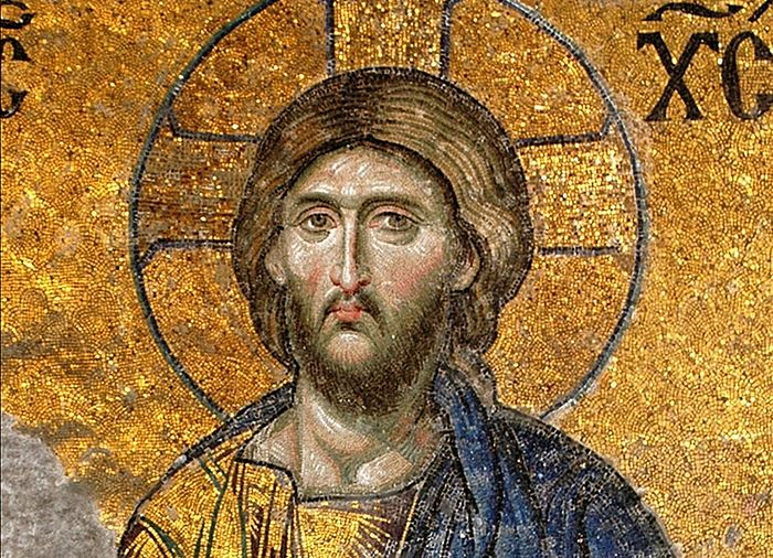 The Lord Pantocrator. Mosaic in the Church of Hagia Sophia, Constantinople.