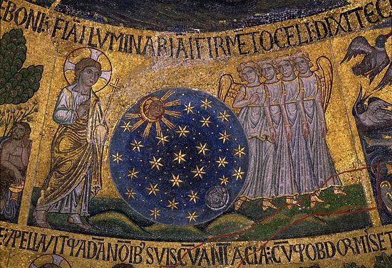 Сотворение светил, фрагмент. Венеция, собор Святого Марка. XIII в.