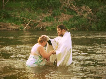 Крещение в реке Медведице
