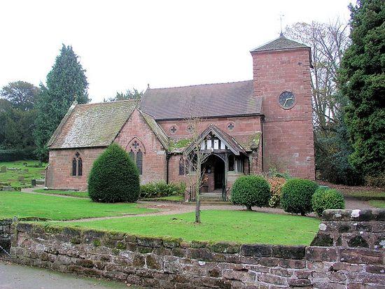 Church of St. Milburgh in Beckbury, Shropshire