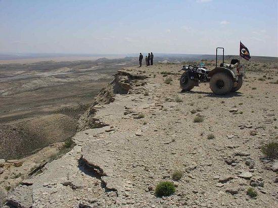 На вершине плато Устюрт