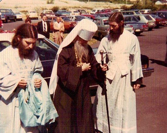 Subdeacon Macarius with Met. Philaret (Voznesensky).