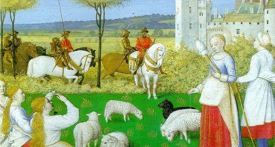 Миниатюра из средневекового Часослова