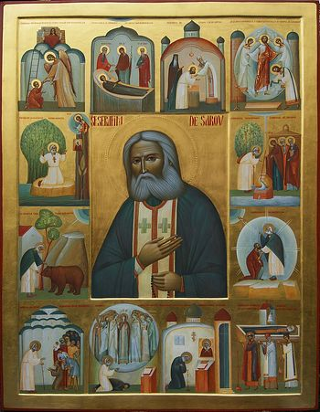 Ioan Popa, St. Seraphim of Sarov, icon