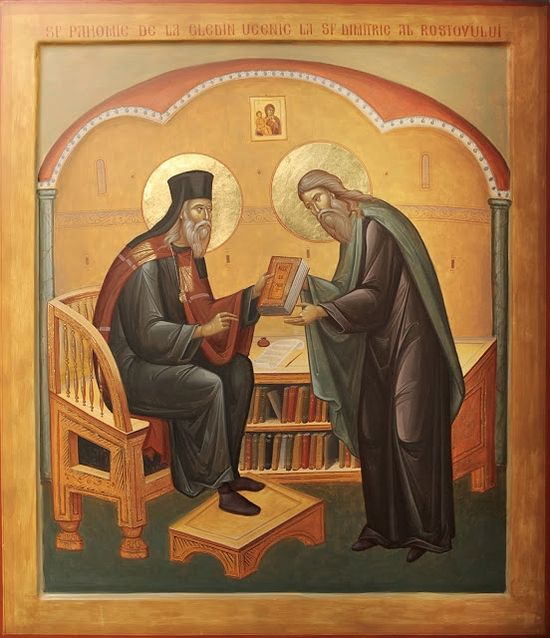 Marius Ghinescu, St. Pachomius of Gledin Visiting St. Dimitry of Rostov