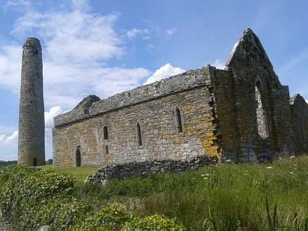 Round Tower and St. Senan's Church on Scattery Island