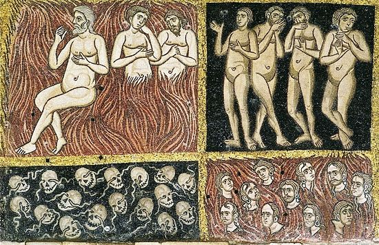 Адские муки. Мозаика в Торчелло