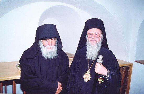 Старец Паисий с патриархом Варфоломеем