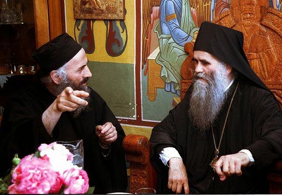 Митрополит Черногорско-Приморский Амфилохий и отец Лазарь