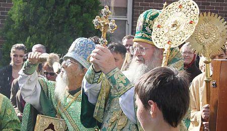 Metropolitan Hilarian and Fr. Michael Li in Croydon, Australia