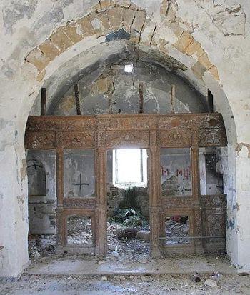 Православный храм на оккупированной турками территории Кипра