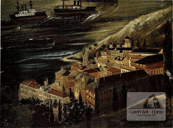 32. Вид монастырского ансамбля с востока ( между 1895 -1908 гг. ).