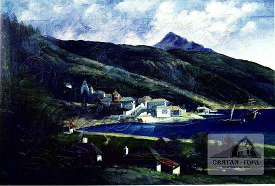 36. Вид монастыря с запада (1866 -1886).