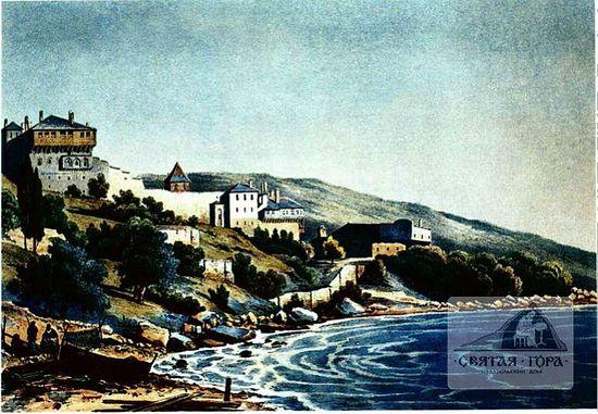 37. Вид монастырских построек с запада (1835 ?)