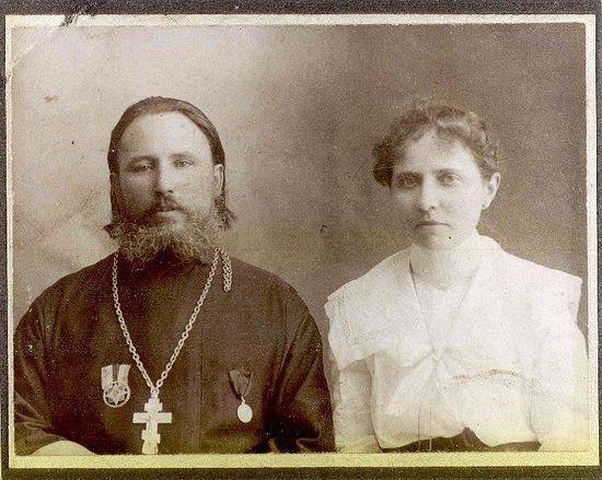 Протоиерей Иаков Корчинский (1861-1941) с матушкой Варварой