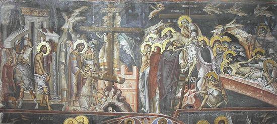Фреска из монастыря Ватопед