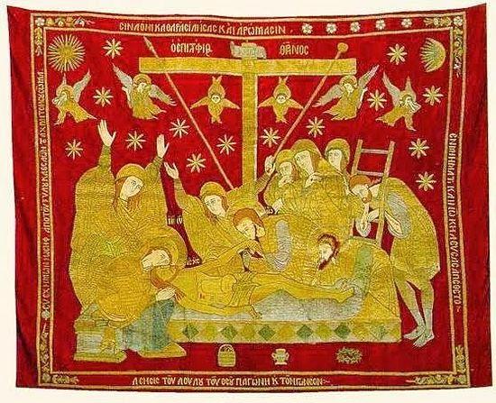Плащаница (17 в.). Монастырь Ксиропотам