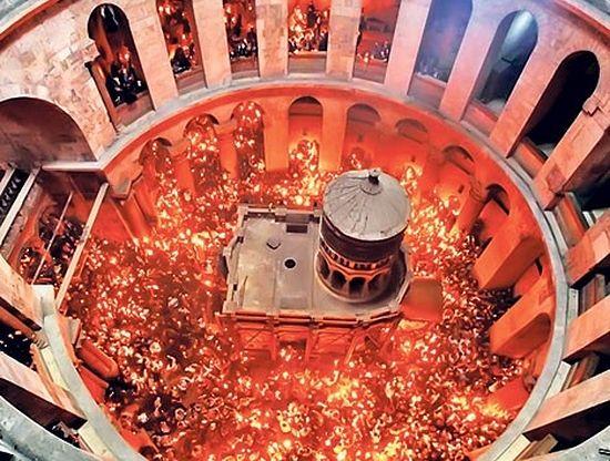 Црква у Светој земљи у којој се јавља Благоденти огањ (Фото СПЦ)