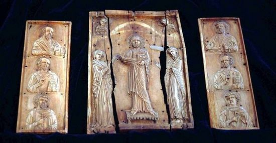 Okoni Triptych, 11th century icon, is currently kept at Georgia's National Museum in Tbilisi.