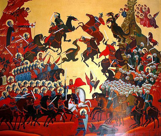 Косовская битва. Современная икона. Сербия. фото: иером.Игнатий (Шестаков)