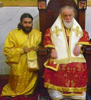 Со Святейшим Патриархом Илией