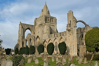 Crowland Abbey in Lincolnshire-the site of St. Guthlac's hermitage