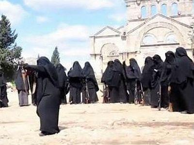 ИГИЛ тренирует женщин-боевиков в захваченном монастыре св. Симеона Столпника