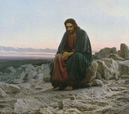 И.Н.Крамской (1837 – 1887). Христос в пустыне