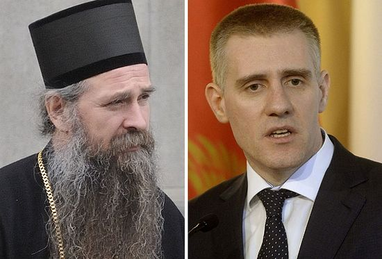 Eпископ Јоаникије и Министар Игор Лукшић