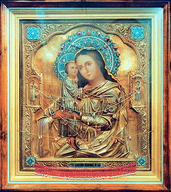 "The icon, ""The Search of the Lost,"" ordered by Matrona for her village church. It is now kept in the Dormition Monastery near Tula."