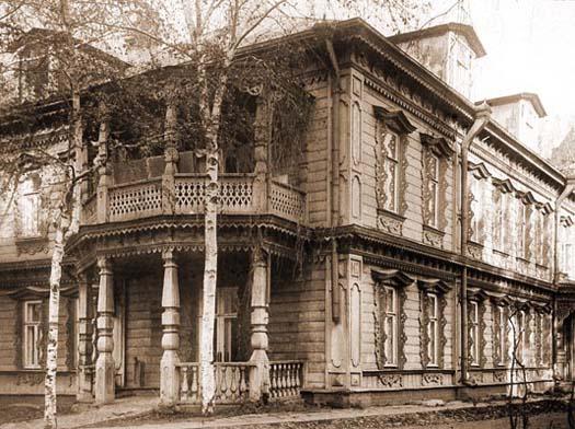 The house on Starokonushensky Lane, Moscow, where St. Matrona live from 1942-49.