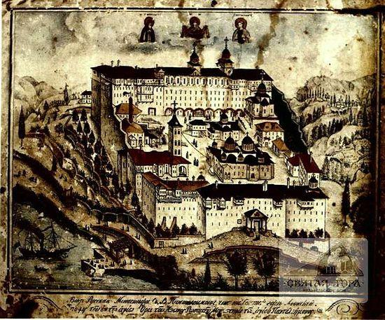 80. Графическое изображение монастыря в 1851 -1861 гг.