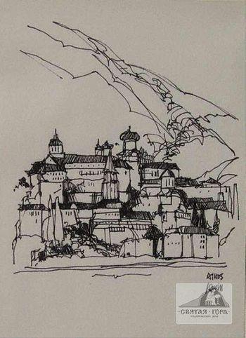 92. «Пантелеимон». Рисунок современного американского художника Дугласа Атвилла (Douglas Atwill).