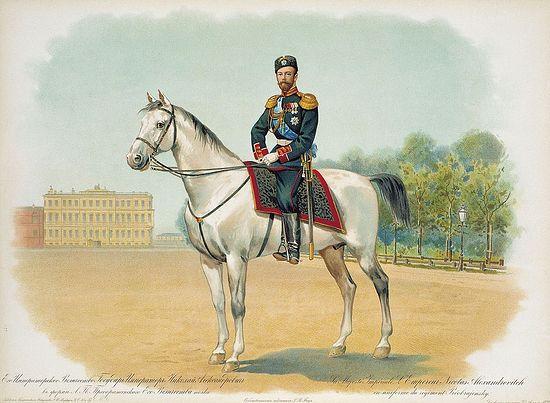 Св. страстотерпец Николай II в форме лейб-гвардии Преображенского Его Величества полка
