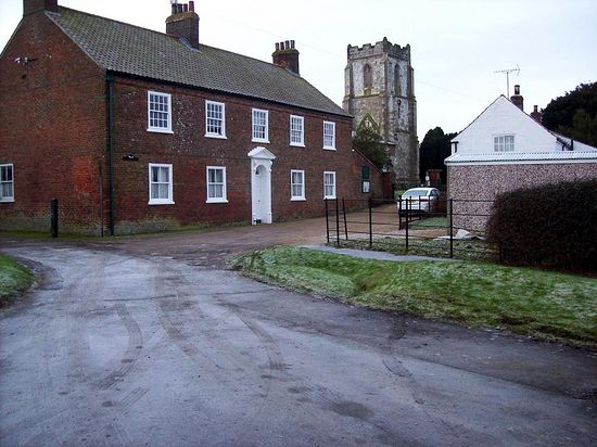 Harpham with the 14th century church dedicated to St. John of Beverley