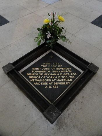 Plaque marking the site of the relics of St. John