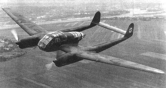 Немецкий самолет-разведчик Фокке-Вульф Fw 189