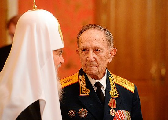 На встрече Патриарха с ветеранами 12 апреля 2015 г.