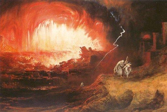 Гибель Содома и Гоморры, Джон Мартин, 1852 г.