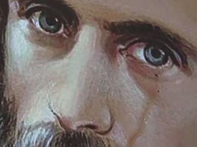 Румыния: В Васлуе плачет портрет иеромонаха Арсения (Боки) (ВИДЕО)