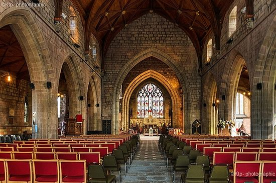 Interior of St Asaph Cathedral
