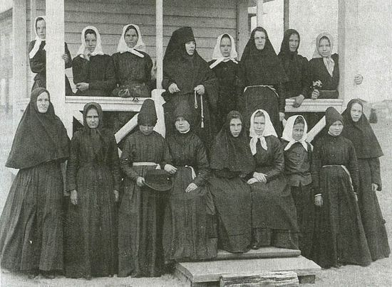 Sisters of the St. John the Theologian-Sura Convent. Photograph from the early 20th c.