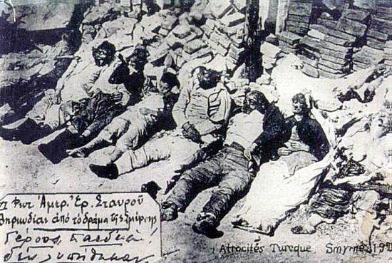 Жертвы смирнской резни. 1922 г.