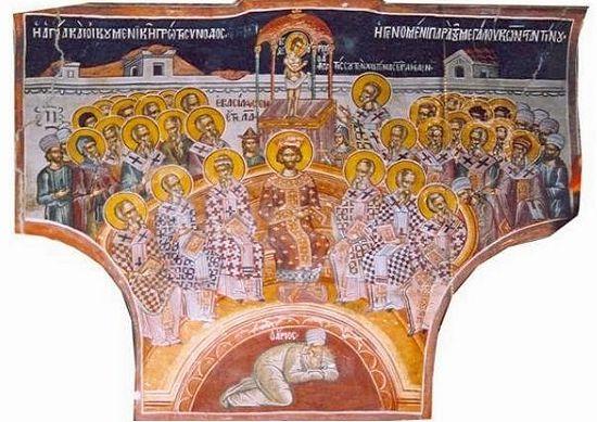 Фреска афонского монастыря Дионисиат (1568 г.)